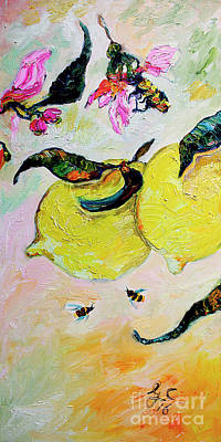 Painting - Lemons Of The Amalfi Coast by Ginette Callaway
