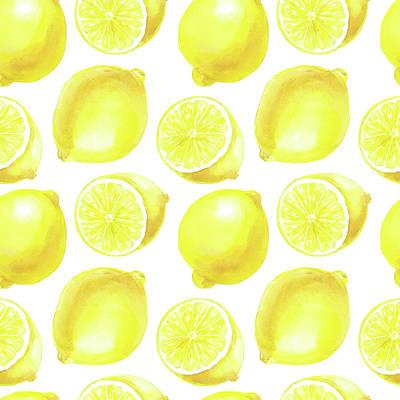Lemons Pattern Design Art Print