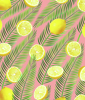 Lemon Digital Art - Lemons by Uma Gokhale