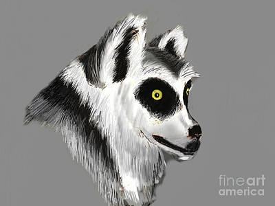 Lemur Art Print by Alfredo Lozano