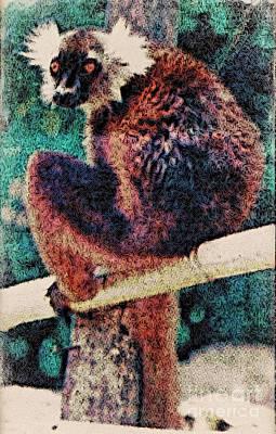 Photograph - Lemur March 30 1997 News Paper Article by Phyllis Kaltenbach