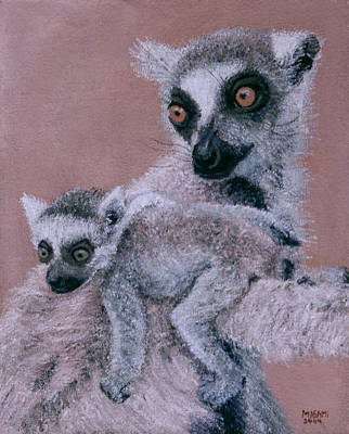 Painting - Lemur by Masami Iida