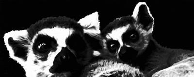 Lemur Digital Art - Lemurs by Katrina Britt