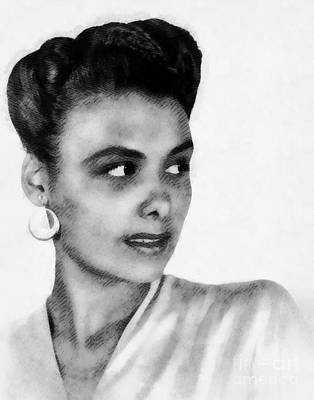 Music Paintings - Lena Horne, Music Legend by John Springfield by Esoterica Art Agency