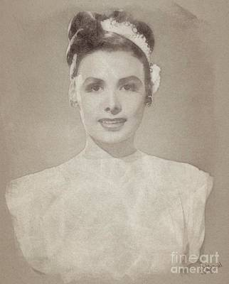 Singer Drawing - Lena Horne, Actress And Singer by John Springfield