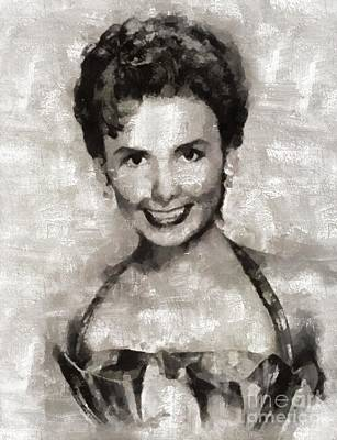 Elvis Presley Painting - Lena Horne, Actress by Mary Bassett