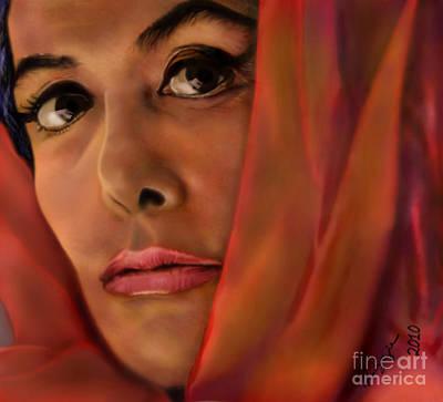 Lena Horne-glass Windows Print by Reggie Duffie