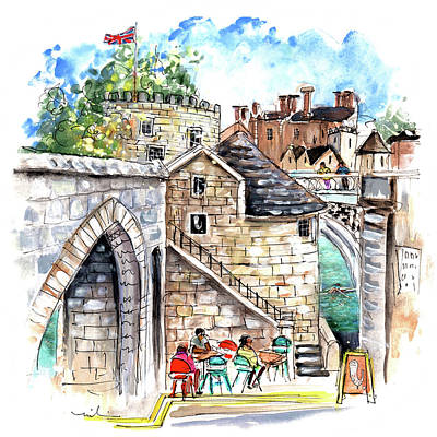 Painting - Lendal Bridge Cafe In York by Miki De Goodaboom
