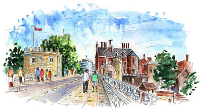 Painting - Lendal Bridge In York by Miki De Goodaboom