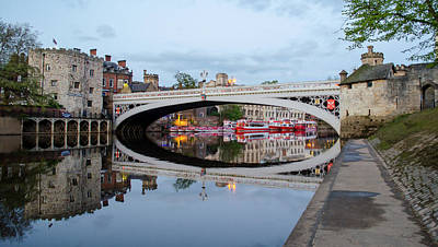 Lendal Bridge Reflection  Art Print