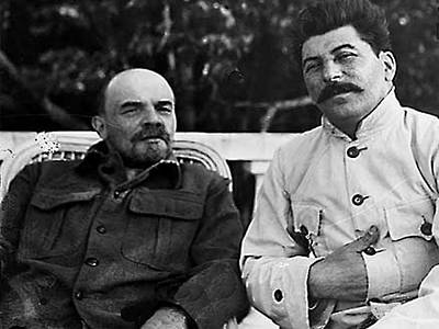 Photograph - Lenin And Stalin - Year 1922 by Merton Allen