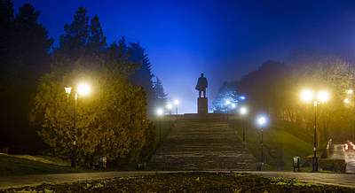 Photograph - Lenin In Fog by Alexey Stiop