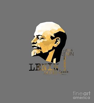 Lenin Digital Art - Lenin by Olga Akkel