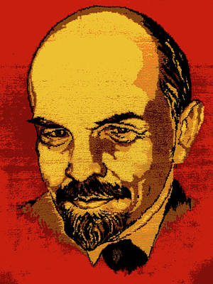 Lenin Digital Art - Lenin, Poster Effect by Zsuzsanna Szabo