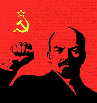 Lenin Digital Art - Lenin  by Valentina Hramov