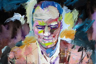 Painting - Lennie Tristano - Oil Portrait by Fabrizio Cassetta