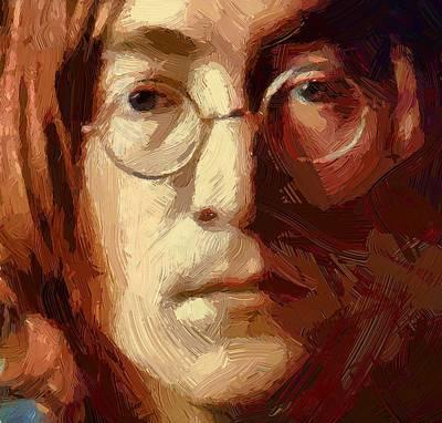 Beatles Life Music Digital Art - Lennon 01 by Yury Malkov