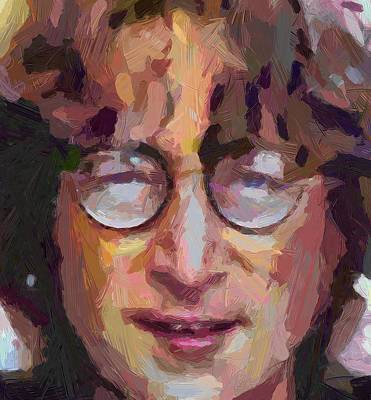 Beatles Life Music Digital Art - Lennon 05 by Yury Malkov