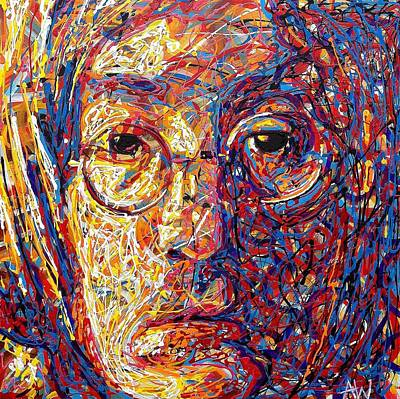 Paul Macartney Painting - Lennon by Angie Wright