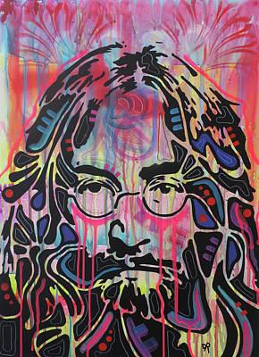 John Lennon Wall Art - Painting - Lennon Flare by Dean Russo Art
