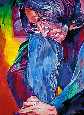 Beatles Painting - Lennon In Repose by David Lloyd Glover