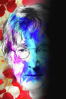 Digital Art - Lennon by John Haldane