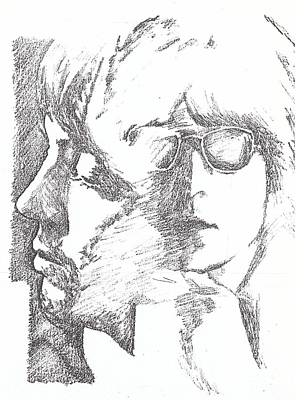 George Harrison Art Drawing - Lennon Mccartney Two Of Us by Irakli Jorjadze
