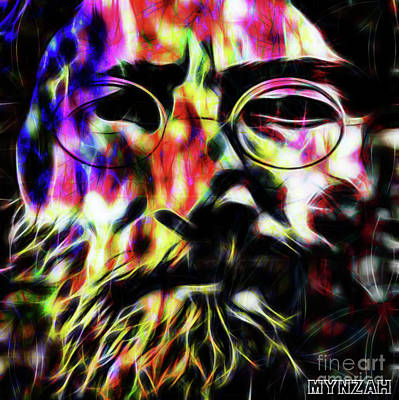 Digital Art - Lennon by Mynzah
