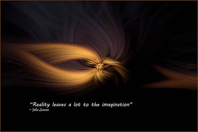 Digital Art - Lennon Quote by Bill Posner