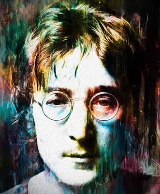 Music Paintings - Lennon Tribute by Dan Sproul