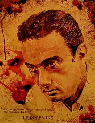Free Speech Painting - Lenny Bruce Fresh Blood by Ryan Almighty