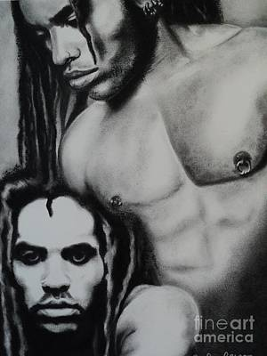 Drawing - Lenny Kravitz Let Love Rule by Carla Carson