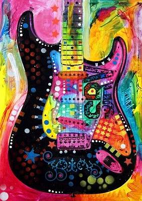 People Mixed Media - Lenny Strat by Dean Russo