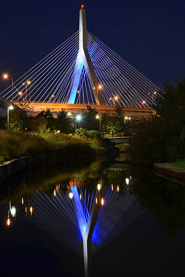 Photograph - Lenny Zakim Bridge Reflection Boston Ma by Toby McGuire
