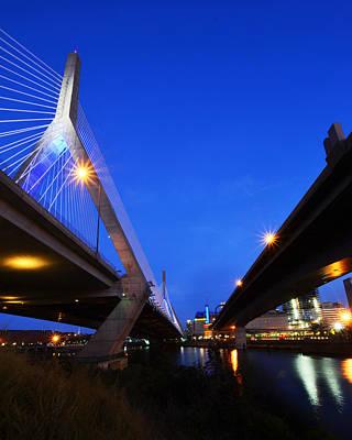 Photograph - Lenny Zakim Bridge Td Banknorth Boston Garden Boston Ma by Toby McGuire