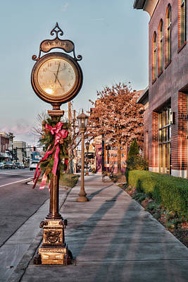Photograph - Lenoir City Clock by Sharon Popek