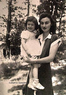 Photograph - Lenore And Aunt Maudie by Lenore Senior