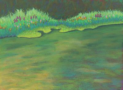 Pastel - Lenox Audubon Pond 3 by Anne Katzeff