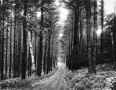 Dirt Track Photograph - Lenox Country Road by Underwood Archives