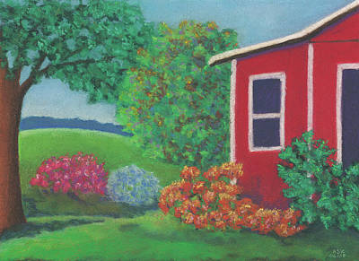Pastel - Lenox Farmhouse by Anne Katzeff