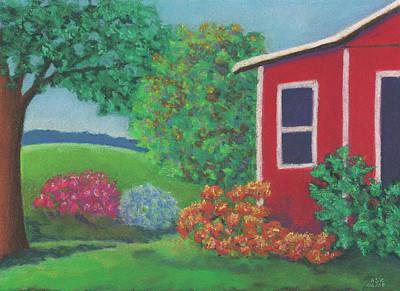 Pastel - Lenox Farmhouse by Anne Katzeff