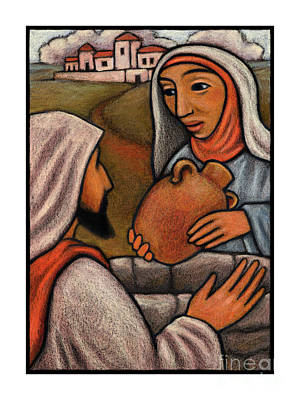Woman At The Well Painting - Lent, 3rd Sunday - Woman At The Well - Jlwaw by Julie Lonneman