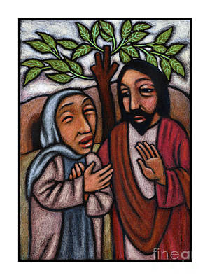 Painting - Lent, 5th Sunday - Martha Pleads With Jesus - Jlmpj by Julie Lonneman