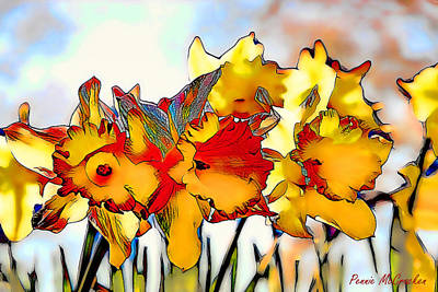 Digital Art - Lent Lily by Pennie McCracken