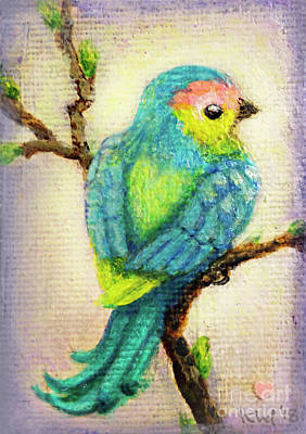 Love Wall Art - Painting - Lenten Love Bird by Kato D