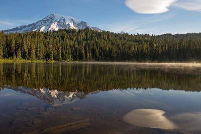 Photograph - Lenticular Cloud At Reflection Lake by Lynn Hopwood
