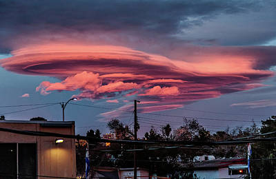 Art Print featuring the photograph Lenticular Cloud Las Vegas by Michael Rogers