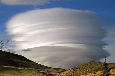 Lenticular Clouds Art Print by Donna Kennedy