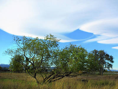 Photograph - Lenticular Clouds Forming by Marilyn Hunt