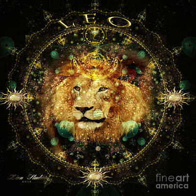 Digital Art - Leo Astrology Sign by Melissa Messick